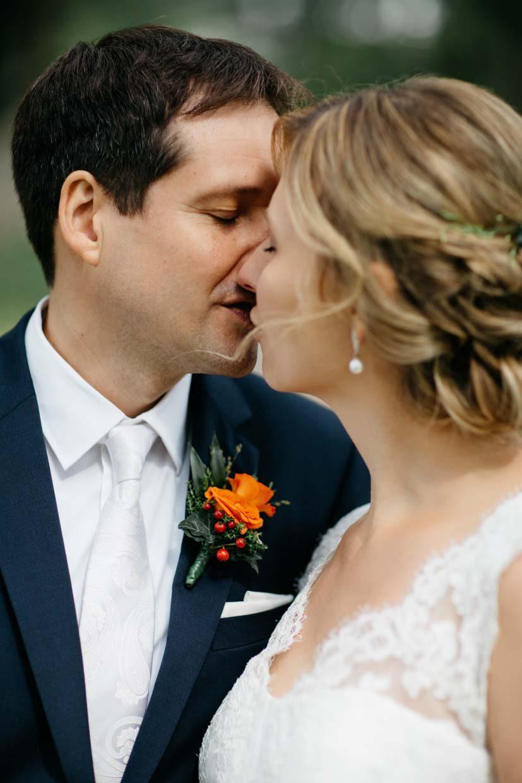 Detailaufnahme Brautpaar