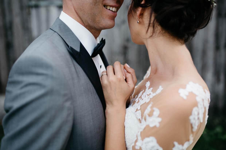 Detailaufnahme vom Brautpaarshooting