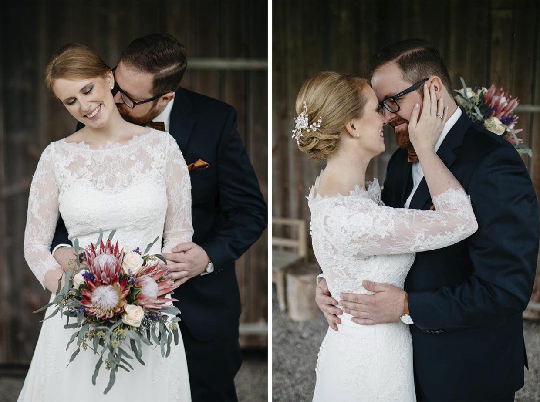 Brautpaar sehr sinnlich beim Shooting
