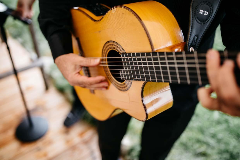 Detailaufnahme Gitarre