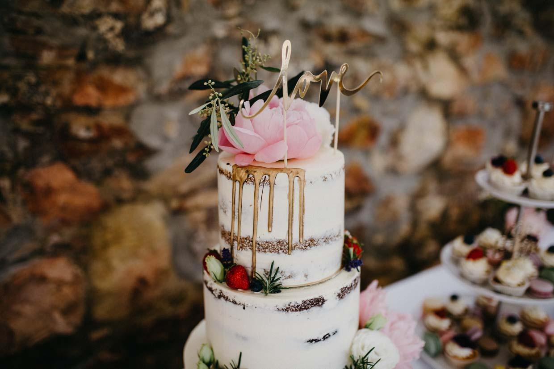 Detailaufnahme Hochzeitstorte