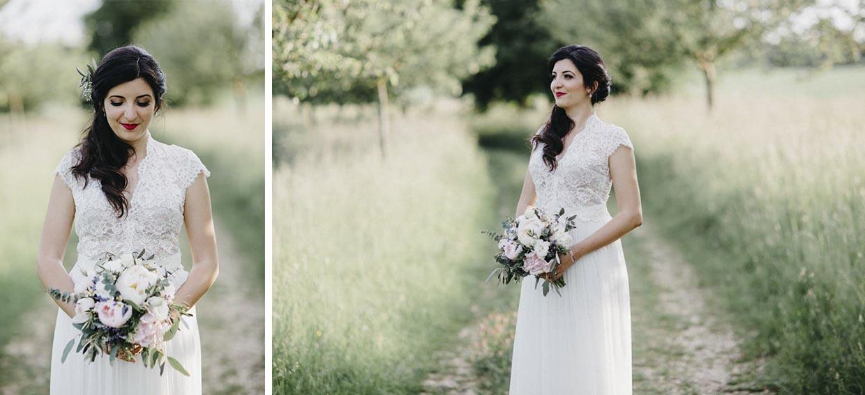 Einzel- und Detailaufnahmen der Braut
