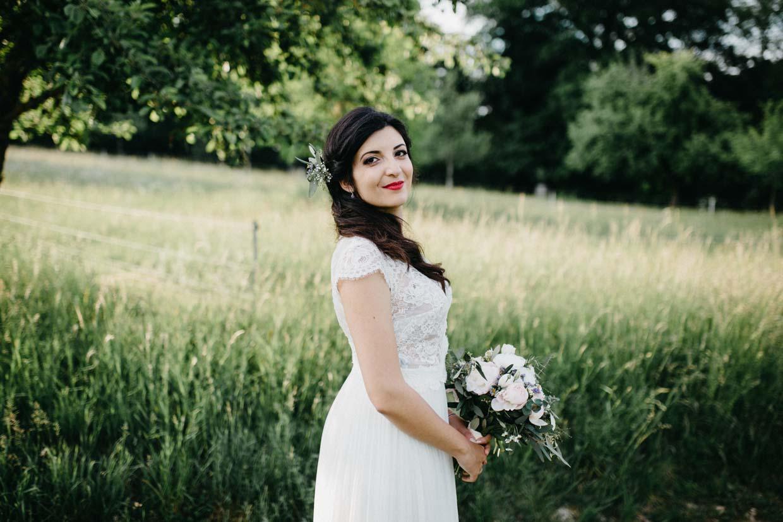 Einzelaufnahme der Braut