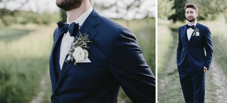Einzel- und Detailaufnahmen des Bräutigams