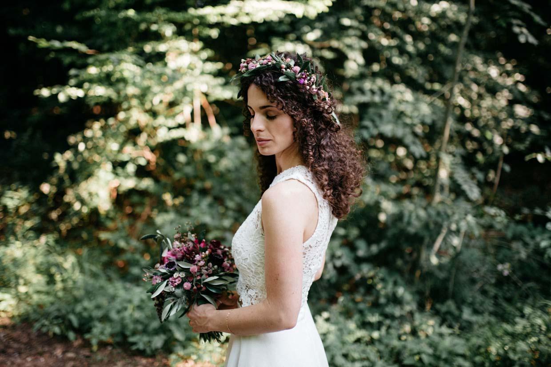 Einzelportrait der Braut