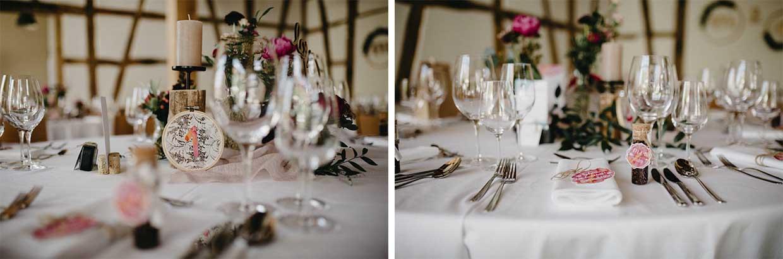 Detailaufnahmen der Tischdekoration
