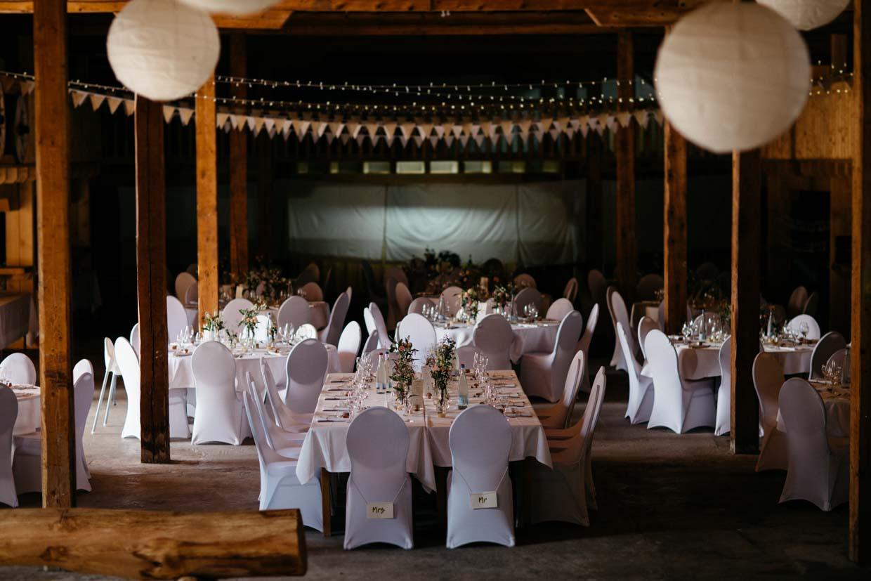 Raumaufnahme einer Hochzeitslocation