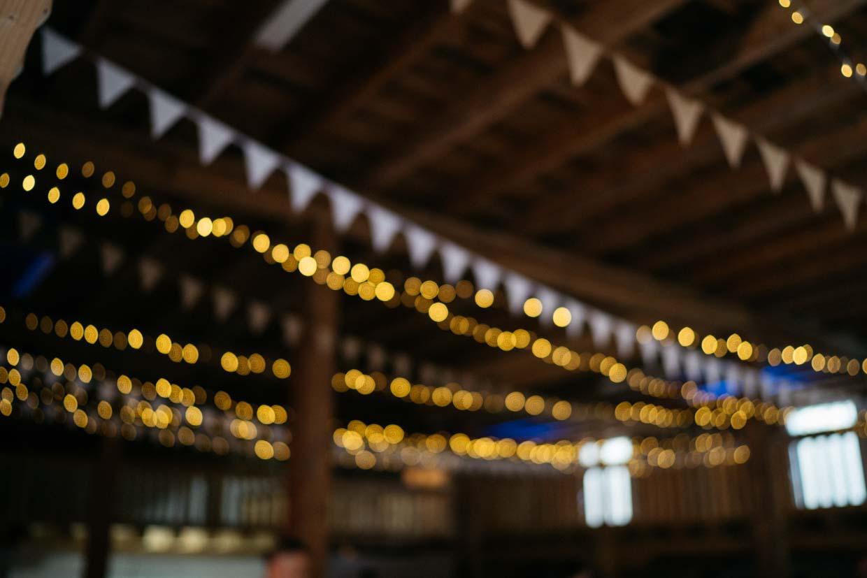 Lichterketten unscharf fotografiert