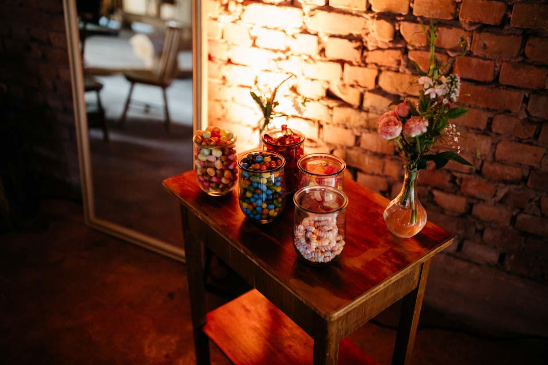 Candy-Bar mit stimmungsvollem Licht