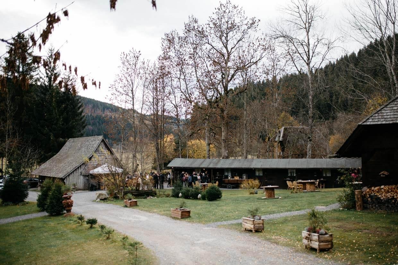 Übersicht des Sektempfangs am Henslerhof