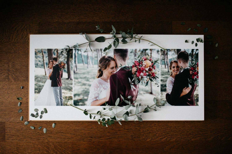 Hochzeitsalbum Detailansicht Doppelseite