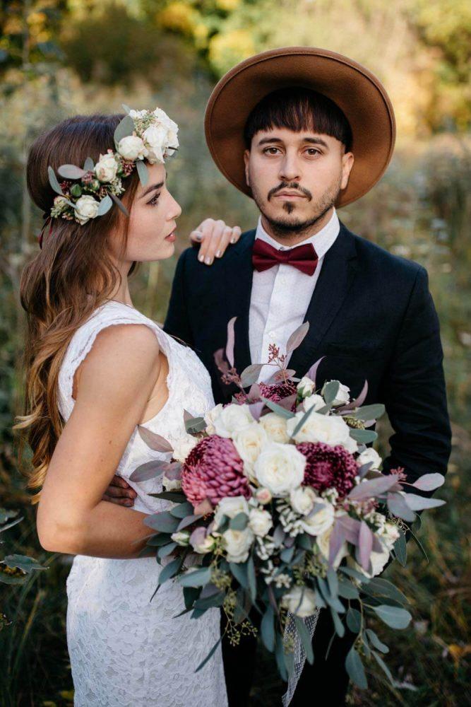 Brautpaarshooting im Wiesenfeld